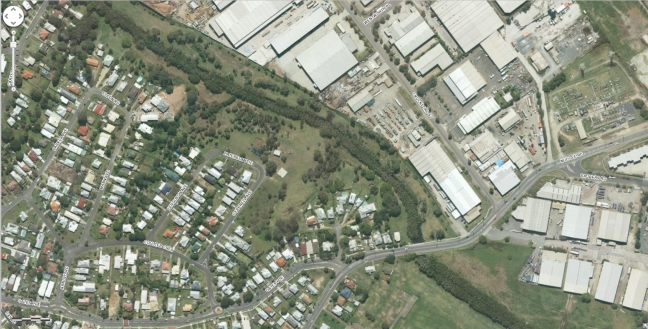 aerial image for an area in Brisbane