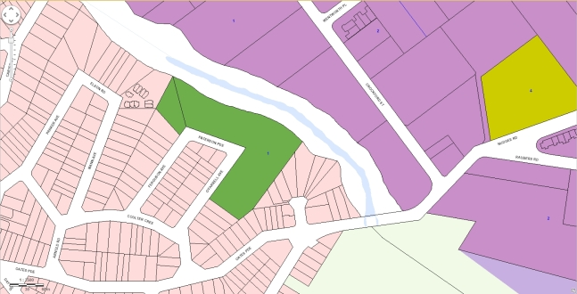 corresponding map of zones under the planning scheme for the area in the previous image