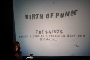 Madame Lark and her overhead projections birth of punk in West End