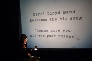 """Madame Lark and her overhead projections Carol Lloyd song """"Gonna Give You All The Good Things"""""""