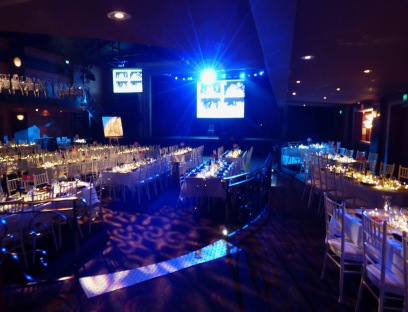 view of the inside of the venue with tables set