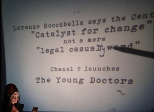 "Madame Lark and her overhead projections ""Caxton not just a legal casualty ward "" Channel 9 releases the Young Doctors"
