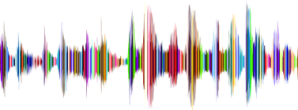colourful radio waves